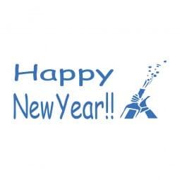 Trodat Printy 4911 Tampon formule Happy New Year- Cork pop