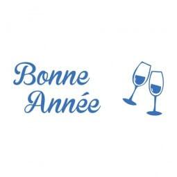 Trodat Printy 4911 Tampon formule - Bonne Année- verres de champagne