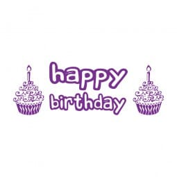 Trodat Printy 4911 Tampon formule Happy Birthday
