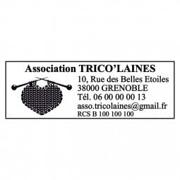 Tampon de association - Trodat Printy 4915 - 70 x 25 mm