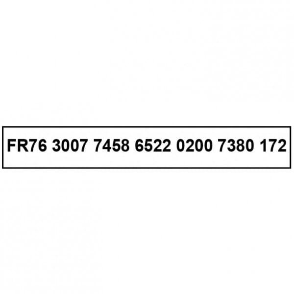 Tampon spécial chèque et IBAN - Trodat Printy 4916 - 70 x 10 mm