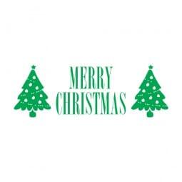 Trodat Printy 4911 Tampon formule Merry Christmas- deux arbres