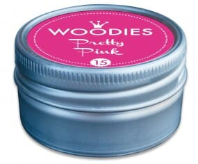 Woodies tampon encreur Pretty Pink