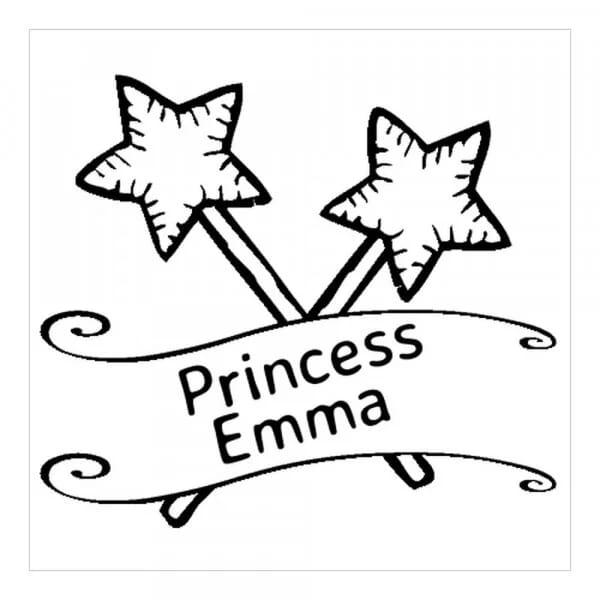 Tampon monogramme carré - Princesse