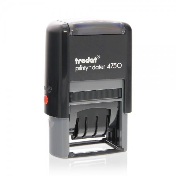 Trodat Printy dateur bicolore 4750/2 - 41x24 mm / 1 + 1 lignes