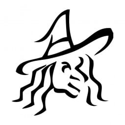 Trodat Printy 4921 Tampon formule Halloween- Witch outline