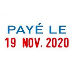 """Trodat Printy mini dateur 4850L2 """"Payé le"""""""
