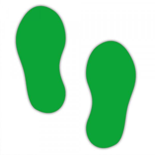 Marquage au sol (10 paires) - autocollant empreintes de pas (Format des empreintes : 250x110 mm)