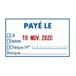 """Trodat Metal Line dateur 5460L10 """"Payé le Banque…"""""""