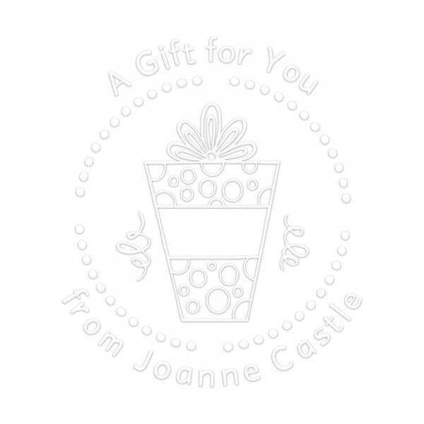 Prensa de sellado en seco monograma redondo - ¡Un regalo para ti!