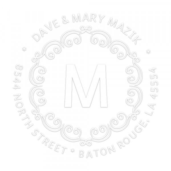 Pince à gaufrer monogramme - Boucles décoratives avec initiales - ronde