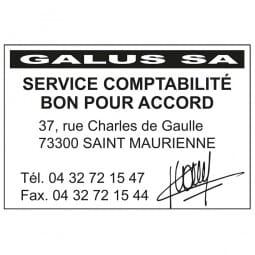 Tampon pour le service comptabilité - Trodat Printy 4927 - 60 x 40 mm