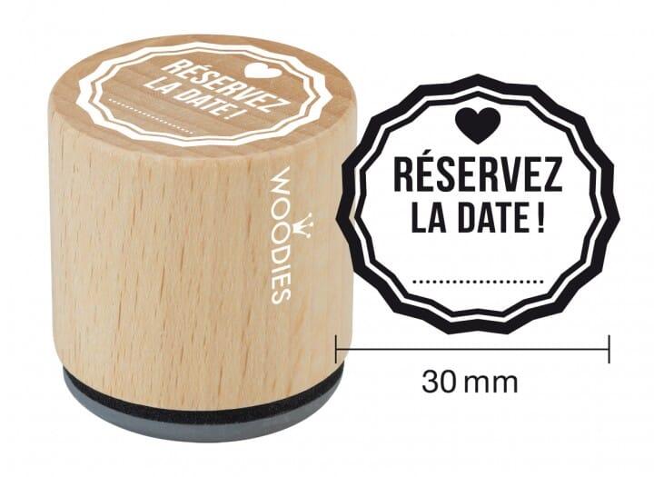 Woodies tampon Réservez la date