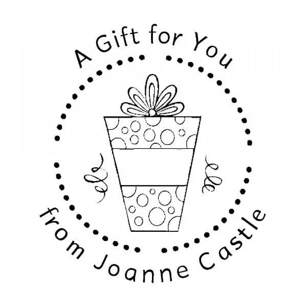 Tampon monogramme rond - Un cadeau pour toi !
