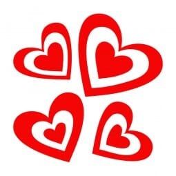 Trodat Printy 4921 Tampon formule Valentine- Four hearts