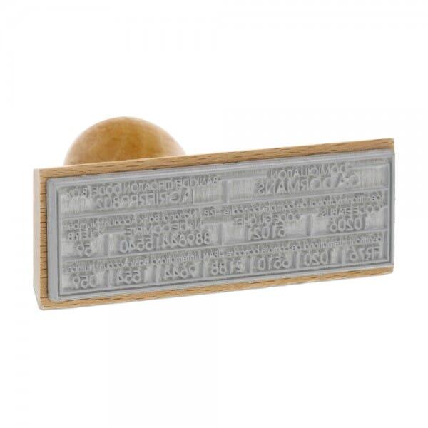 Tampons bois personnalisé - 30 x 60 mm - 4 lignes