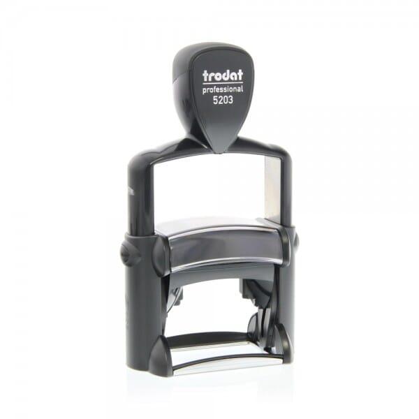 tampon trodat metal line 5203 49 x 28 mm 6 lignes tampons. Black Bedroom Furniture Sets. Home Design Ideas